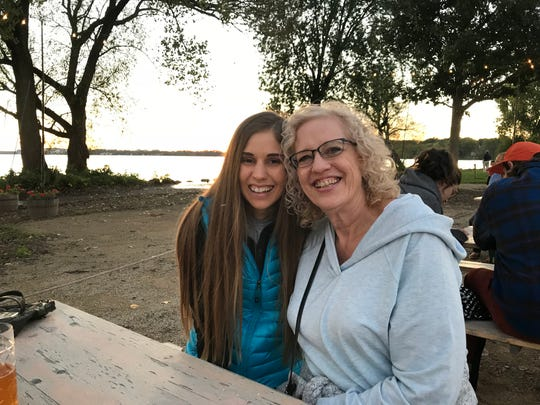 Lauren Smith with her mother Christine. Lauren is now the Communications and Development Coordinator at the Sheboygan County Food Bank. In 2009 when the Smiths fell on hard times, Christine used the food pantries in the Sheboygan area. Now Lauren is a part of the organization that helps other families in a very similar manner.
