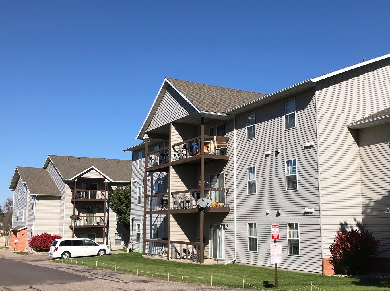 The Sycamore Courts apartments, located in the 4500 block of East 16th Street in Sioux Falls, acquired by Miami-based Tzadik Management.