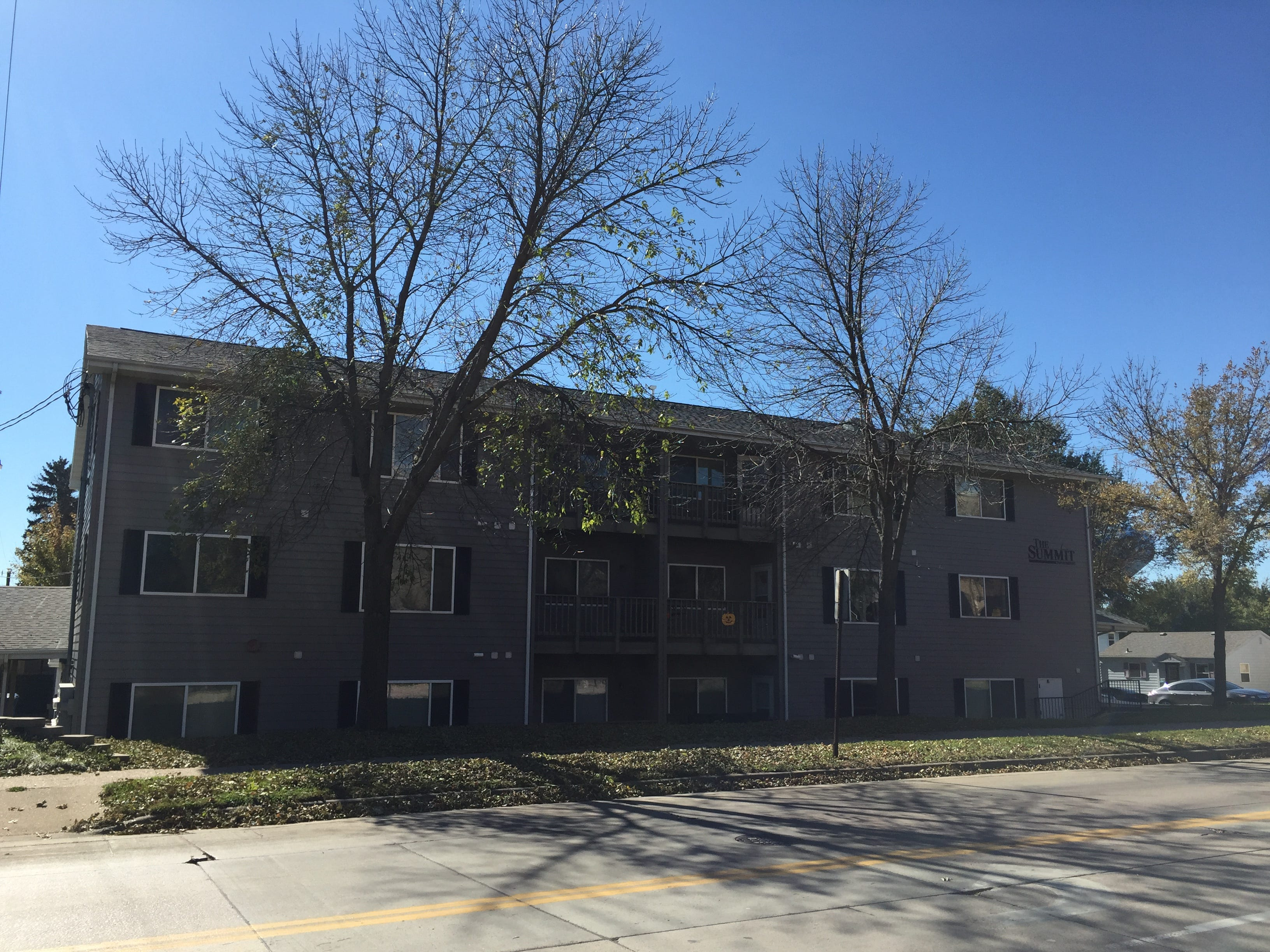 The Summit apartments, located in the 1000 block of S. Summit in Sioux Falls, acquired by Miami-based Tzadik Management.
