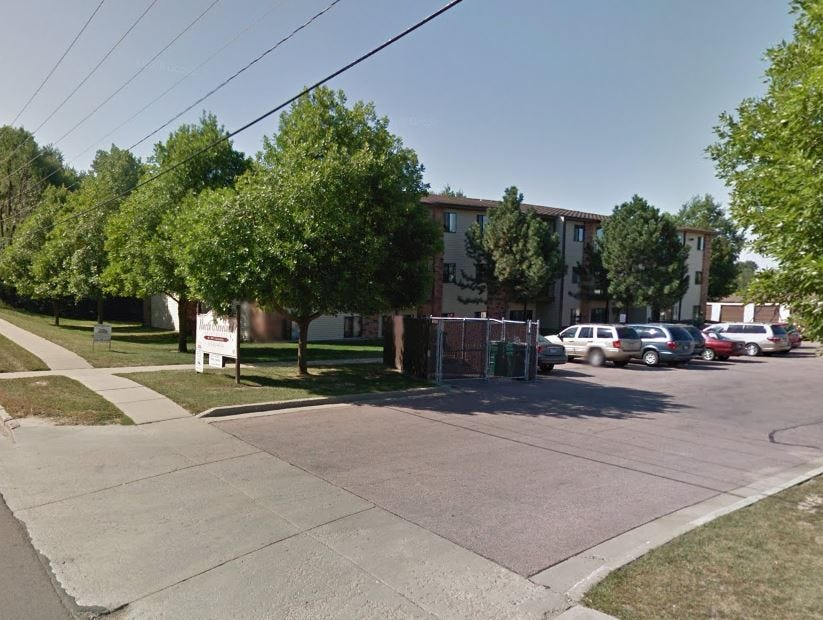 The North Cleveland apartments, located in the 900 block of North Cleveland Avenue in Sioux Falls, acquired by Miami-based Tzadik Management.