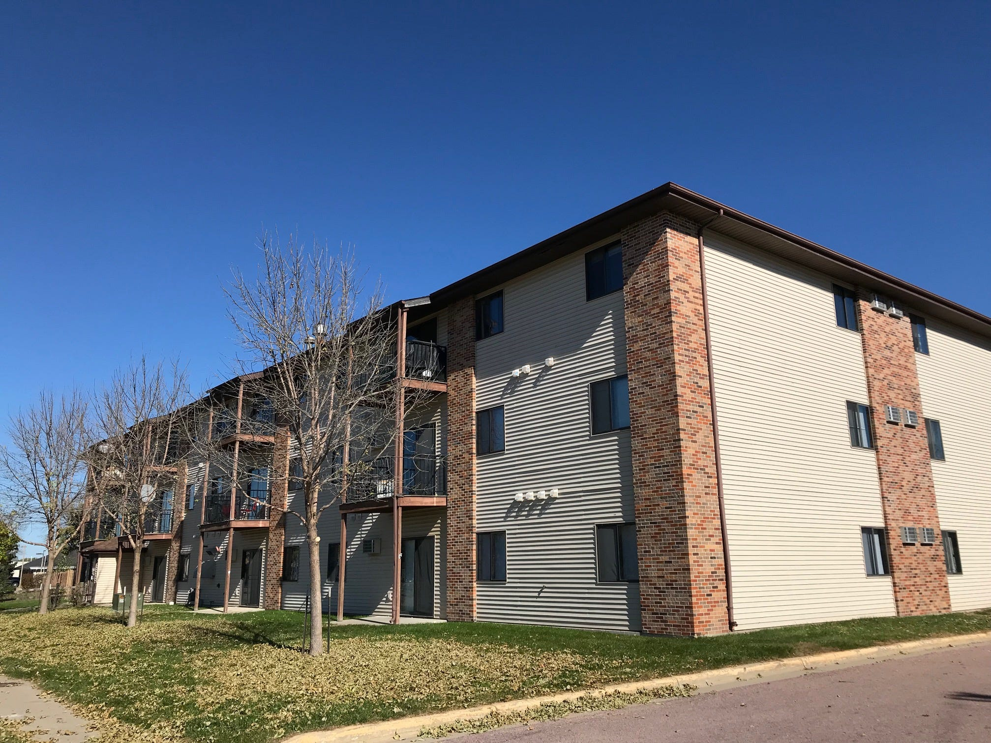 The Sandy Creek apartments, located in the 300 block of North Western Avenue in Sioux Falls, acquired by Miami-based Tzadik Management.