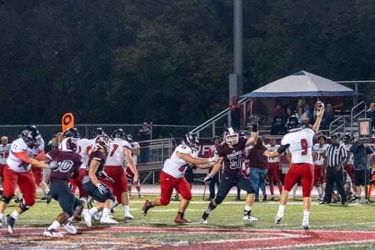 Andreas Moeller (51) has earned defensive player of the week honors twice this season as Evangel University has compiled an 8-0 record. The junior lineman also is a star in the classroom, where he has a 4.0 GPA.