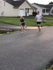 Gracie and Jacob Jones out for a run.