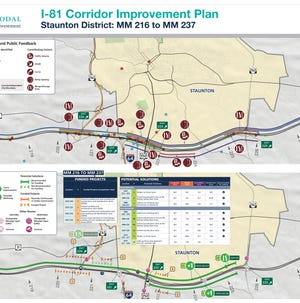 Corridor improvement plan proposal from VDOT, October 2018