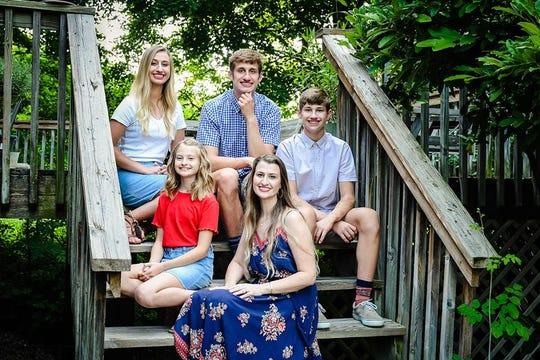 From top left, clockwise: Madison, Jacob, Josh, Sara and Gracie Jones.