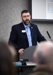 Eagan Mayor Mike Maguire, a member of the Governor's Task Force on Affordable Housing, presented the groups recommendations Tuesday, Oct. 16, at CentraCare South Point.