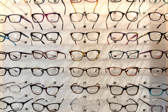 Many types and styles of frames are available Tuesday, Oct. 16, at the newly-renovated CentraCare Eye Clinic in Sartell.
