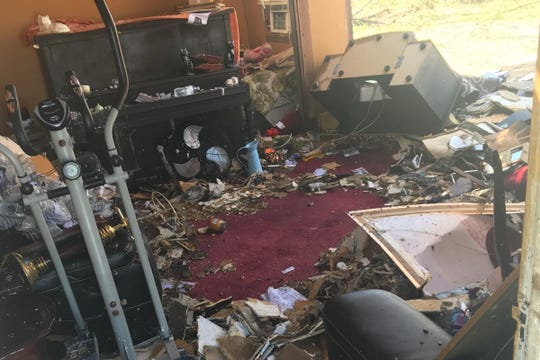 A look at the damage done to Janarius Robinson's house by Hurricane Michael.