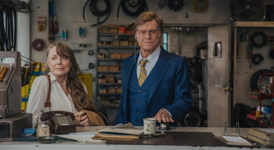 "Sissy Spacek, left, Robert Redford star in the low-key crime story ""Old Man & The Gun,"" opening Friday."