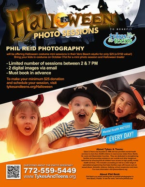 Before you take your little ones out trick or treating this Halloween, you can take advantage of the opportunity to have professional photos taken of them for only $25.