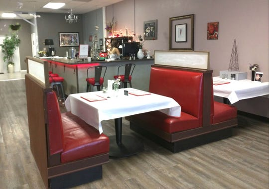 Inside of Red Bird Cafe in Vero Beach.