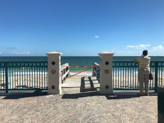 Humiston Park and all over City of Vero Beach oceanside parks were closed to the public Oct. 17, 2018 after red tide was confirmed in the water by Florida Fish and Wildlife Conservation Commission.