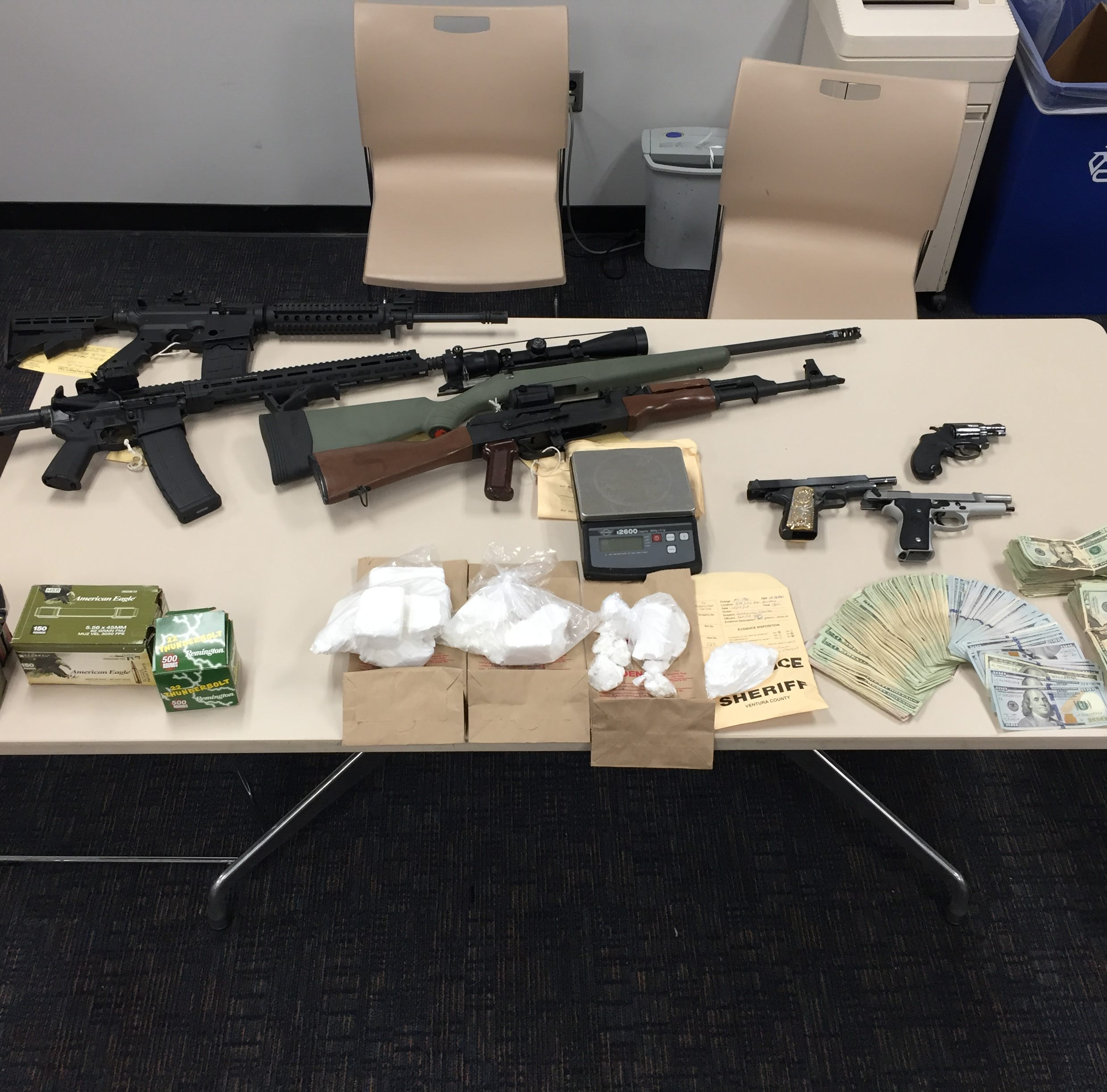 Sheriff's office: Assault rifle, cocaine, cash seized in El Rio search; 2 arrested