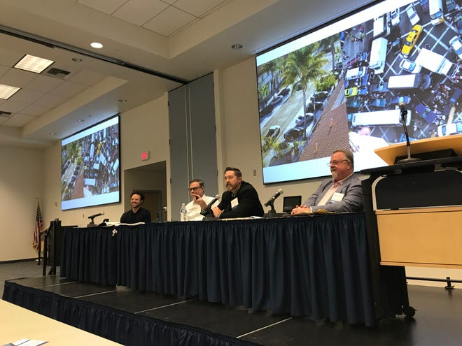 Panelists discuss strategies to improve Ventura County's housing market during the 17th annual Ventura County Housing Conference at the Ventura County Office of Education Wednesday morning.