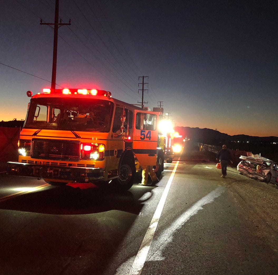 Multiple people were injured in a multi-vehicle collision that occurred Wednesday on Central Avenue in Camarillo.