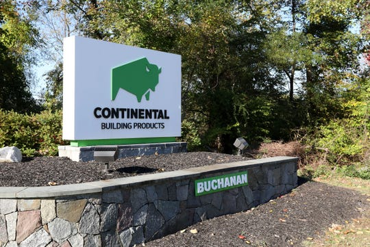 Outside the Continental Building Products factory in Buchanan.
