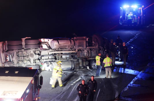 Tractor-trailer crash on I-84 in Southeast