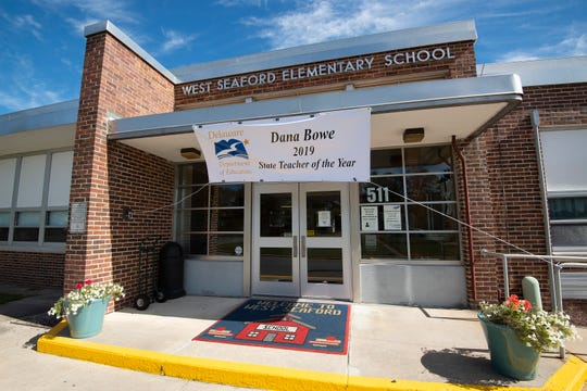 Delaware's 2019 Teacher of the Year is Dana Bowe, who teaches kindergarten through second grade for the Sussex County Orthopedic Program at West Seaford Elementary School.