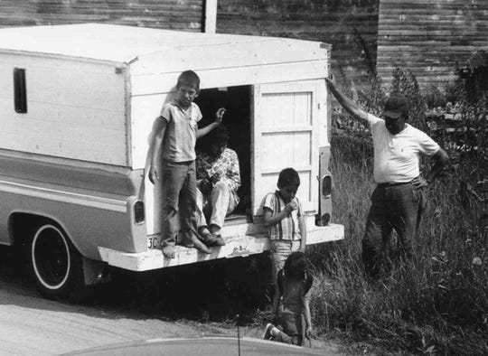 A family from Texas temporarily settles in Waushara County in 1967.