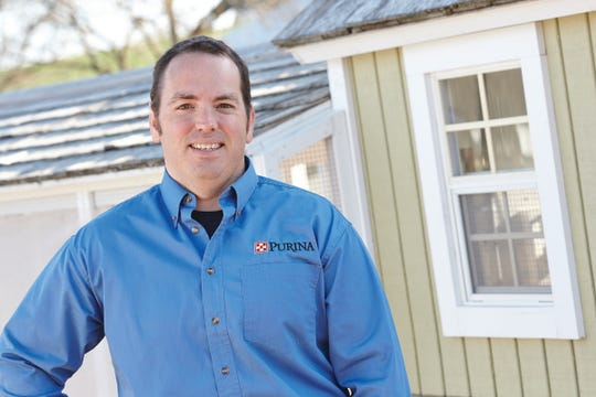 Patrick Biggs, Ph.D., a flock nutritionist for Purina Animal Nutrition.