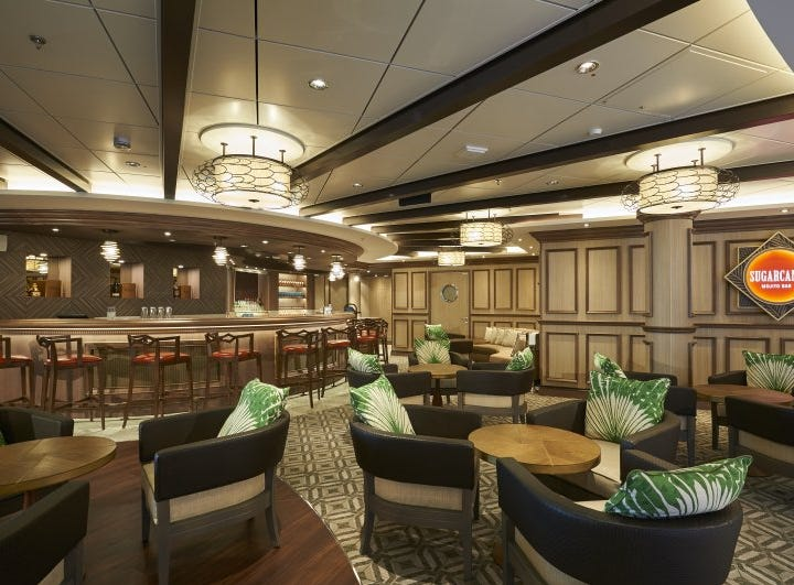 Norwegian Cruise Line ships feature up to 22 bars and lounges a piece. Another favorite of Norwegian fans is the mojito-focused Sugarcane Mojito Bar, found on eight vessels.