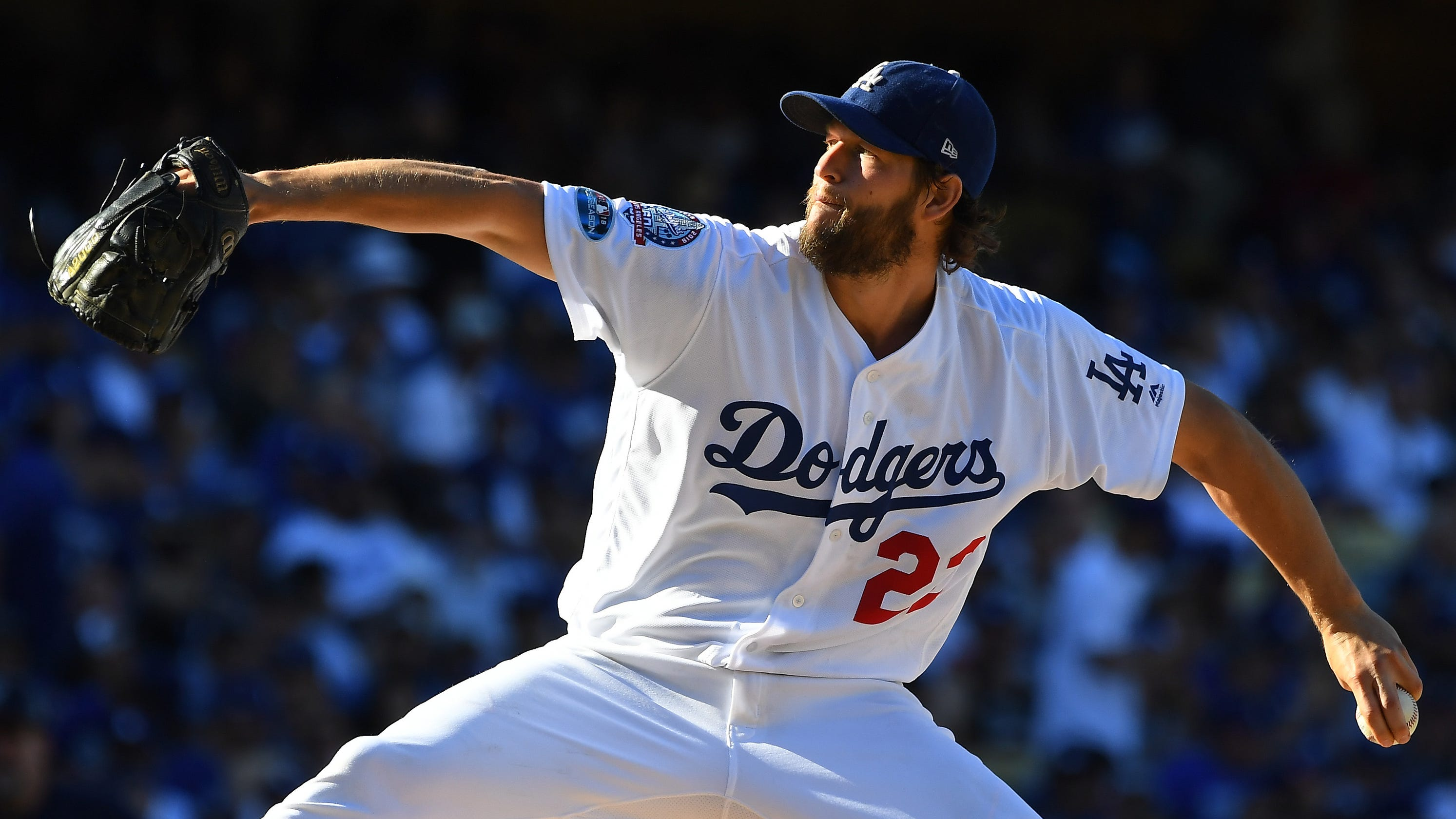 819442994 MLB playoffs  Clayton Kershaw puts Dodgers ahead in NLCS with gem