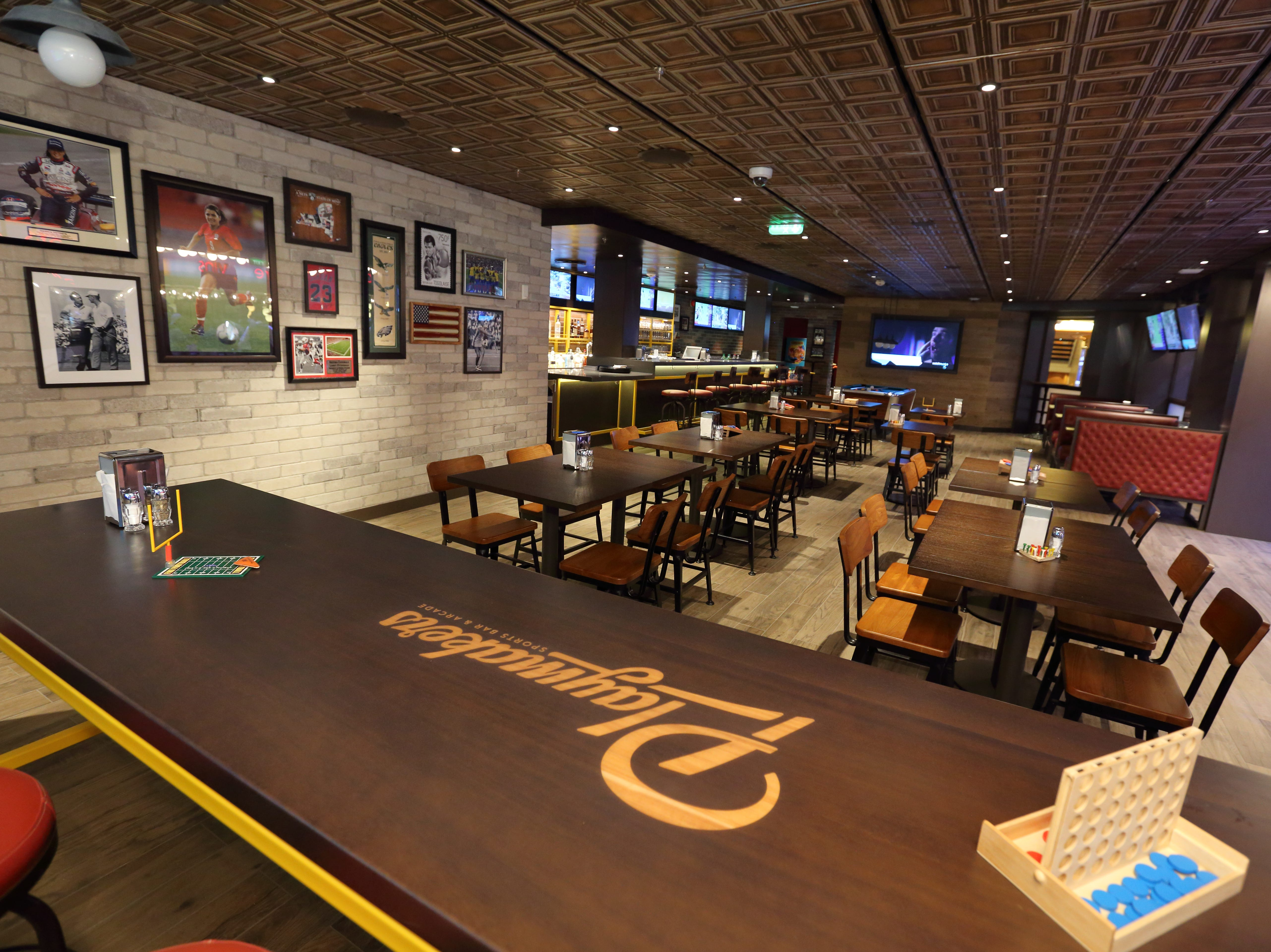 Sports bars at sea have been getting an overhaul in recent years. Here, the recently unveiled Playmakers Sports Bar & Arcade on Royal Caribbean's revamped Mariner of the Seas. Improved satellite technology is allowing cruise lines to pipe in a wide array of live sporting events to such venues.