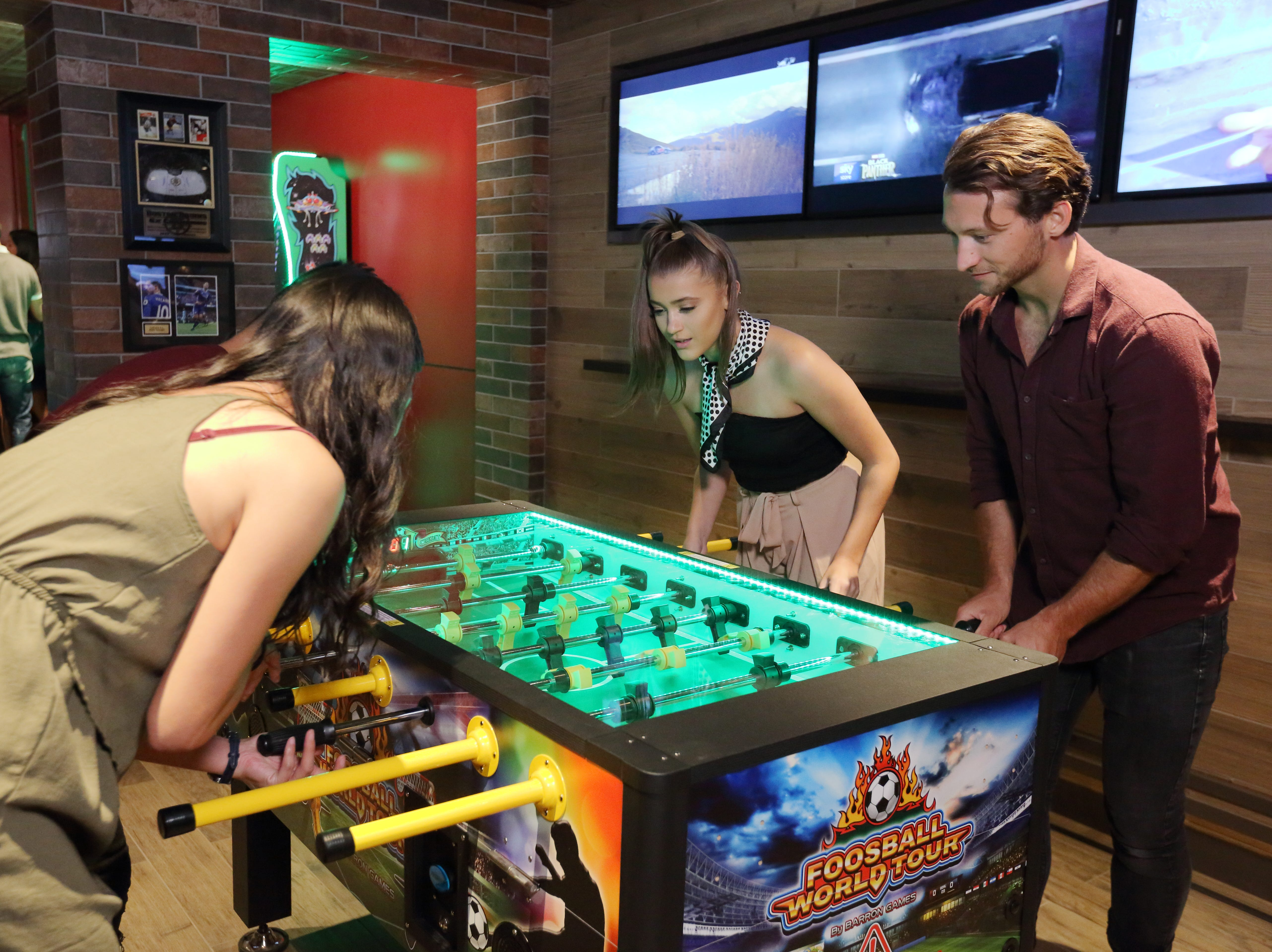 The Playmakers Sports Bar & Arcade on the revamped Mariner of the Seas now features foosball and other attractions.
