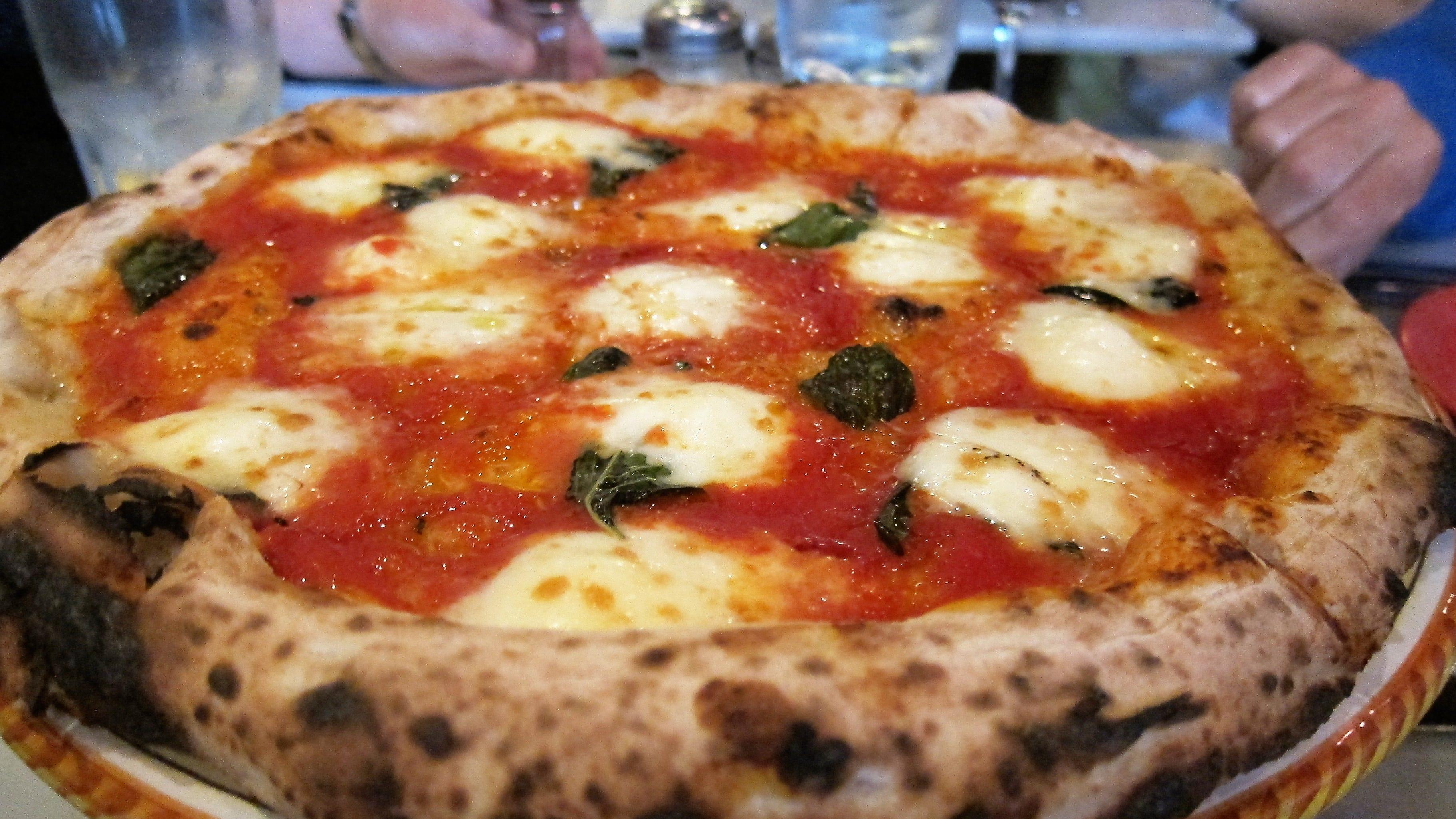 The traditional Neapolitan pizza at Tony's Pizza Napoletana in San Francisco.