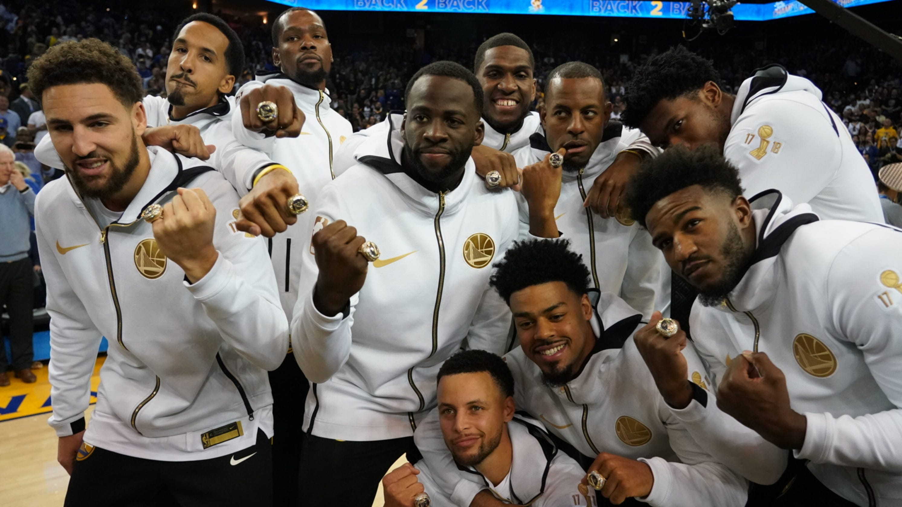 Golden State Warriors  Cheesy ring ceremony  weirdest night of year  dc3d46252
