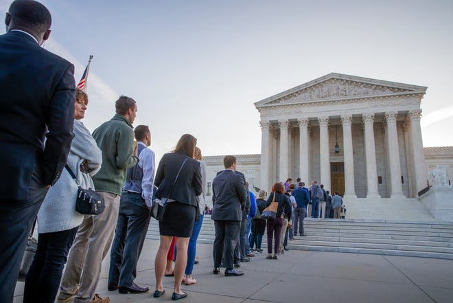 The Supreme Court attracted a long line of hopeful onlookers on Oct. 1, the first day of the 2018 term.