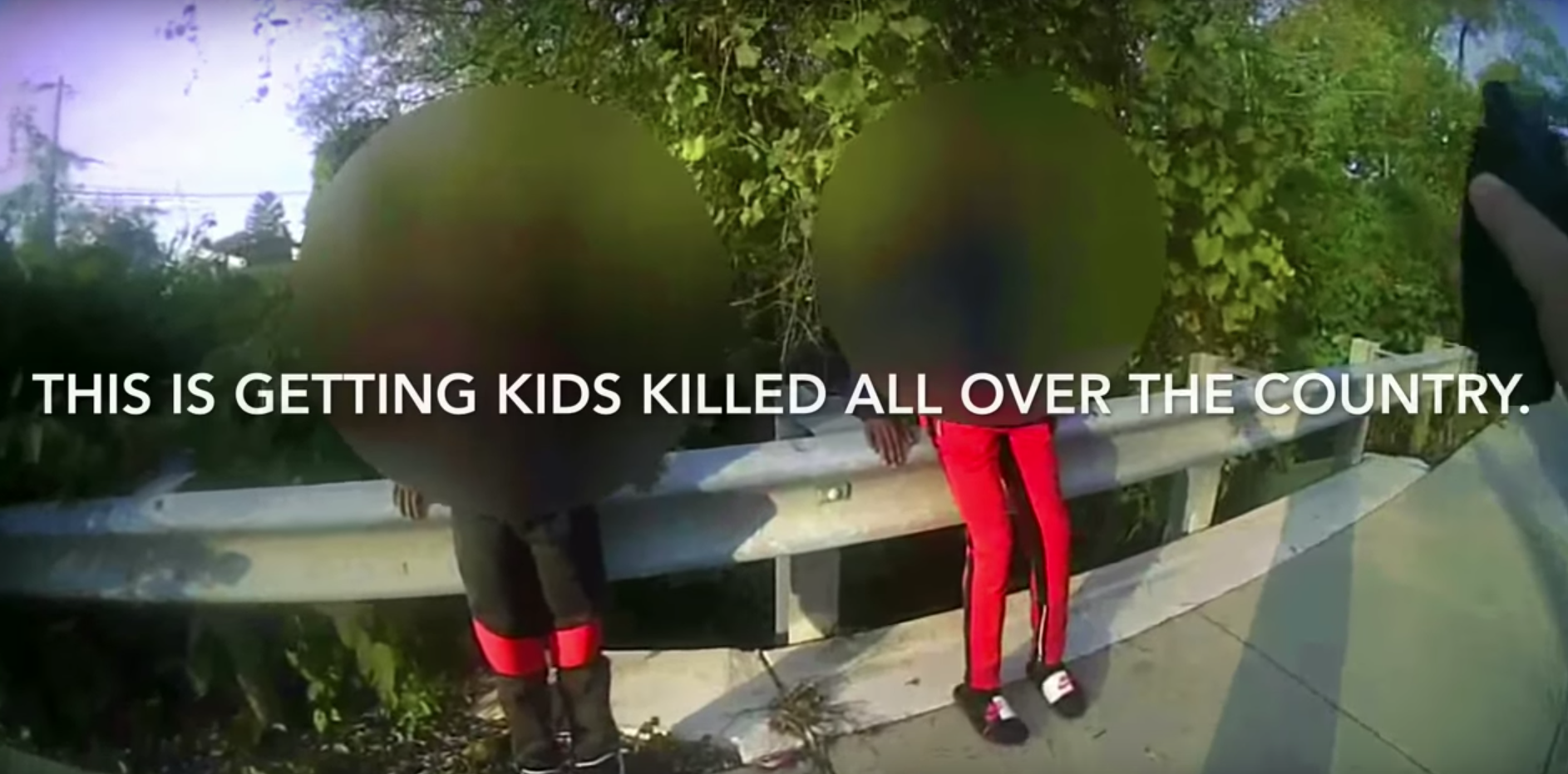 Cop in tense exchange with boys carrying BB gun: 'You think I want to shoot an 11-year-old?'