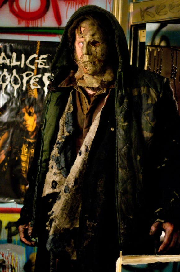 "Michael Myers (Tyler Mane) is looking a rough around the mask in Rob Zombie's ""H2: Halloween II."""