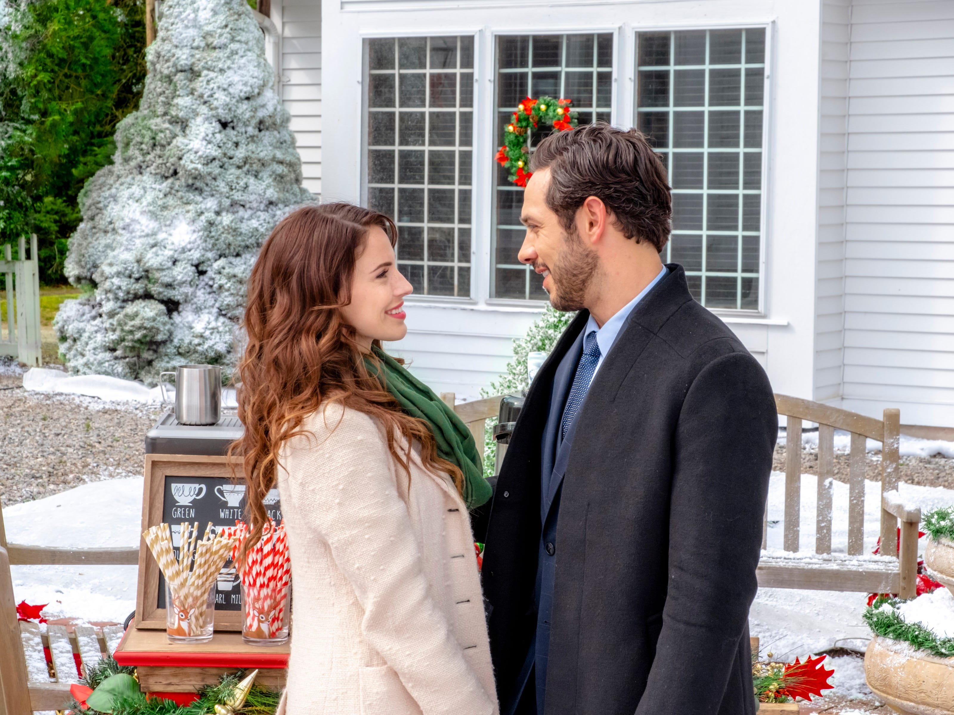 """""""Christmas at Pemberley Manor"""" (Hallmark, Oct. 27, 9 EDT/PDT): Jessica Lowndes is Elizabeth, a New York event planner who faces off against Darcy (Michael Rady), a billionaire whose ideas could thwart Elizabeth's holiday festival."""