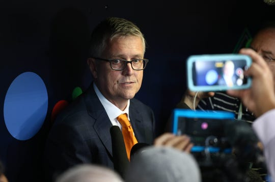 Houston Astros general manager Jeff Luhnow denied his club used electronic devices to attempt to steal signs.
