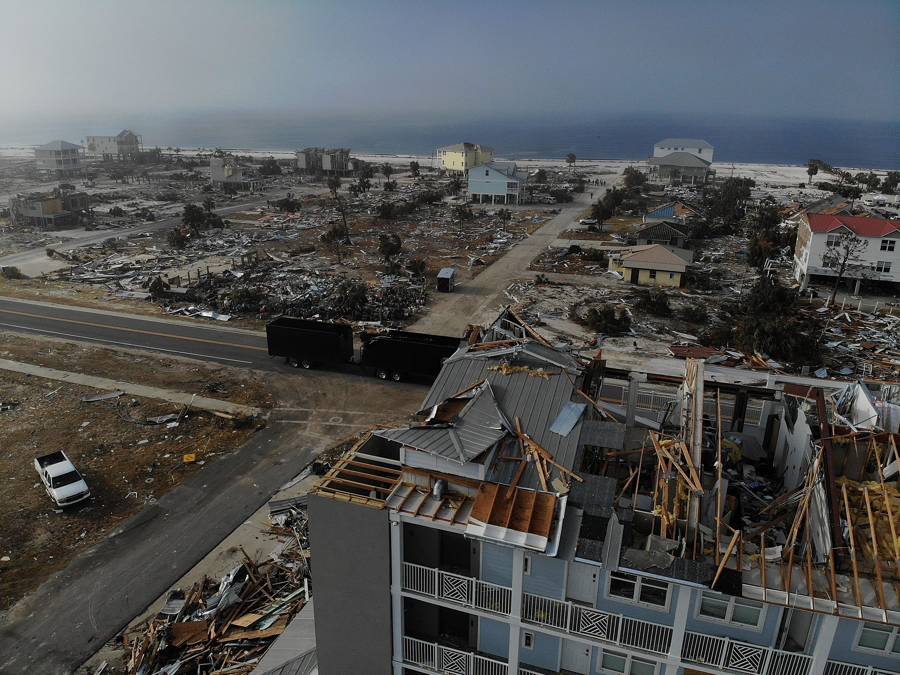 Hurricane Michael left almost total devastation on Oct. 17, 2018 in Mexico Beach, Fla.