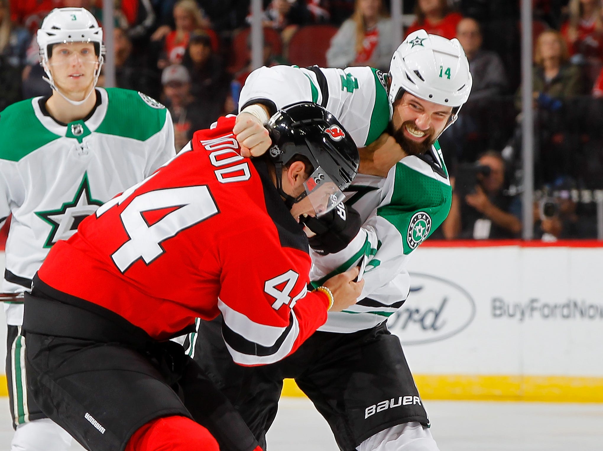 Oct. 16: The Devils' Miles Wood vs. the Stars' Jamie Benn.