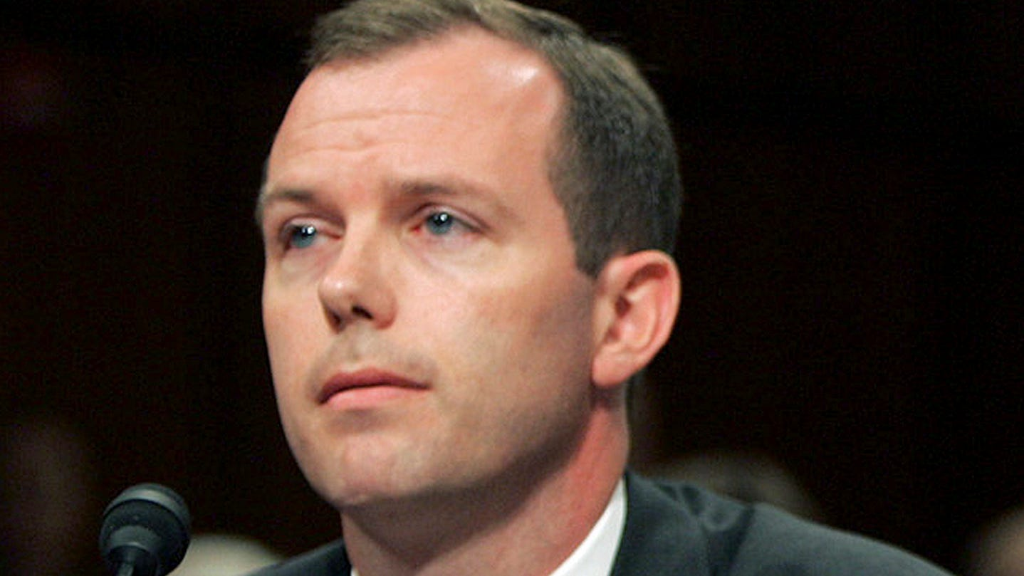 In this June 22, 2005 file photo, Kevin Ring testifies on Capitol Hill in Washington. After time in federal prison, Ring is now pushing to end mandatory minimum laws he once wrote.