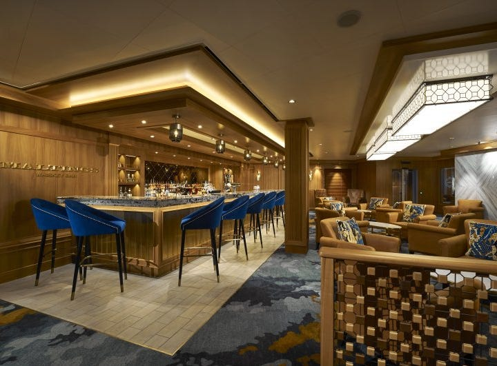 Norwegian Cruise Line's newest ship, Norwegian Bliss, also features a bar specializing in whiskeys called Maltings Whiskey Bar.