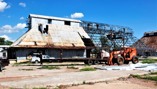 The siding was stripped off this 1920s cotton gin in Natchitoches as part of its renovation, but the interior beams were preserved as part of Cane River Brewing Co.'s taproom and brewing facility. The brewery should open in the next few weeks.