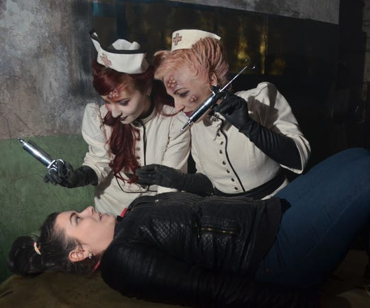 Scenes from Terror Behind the Walls at Philadelphia's Eastern State Penitentiary.