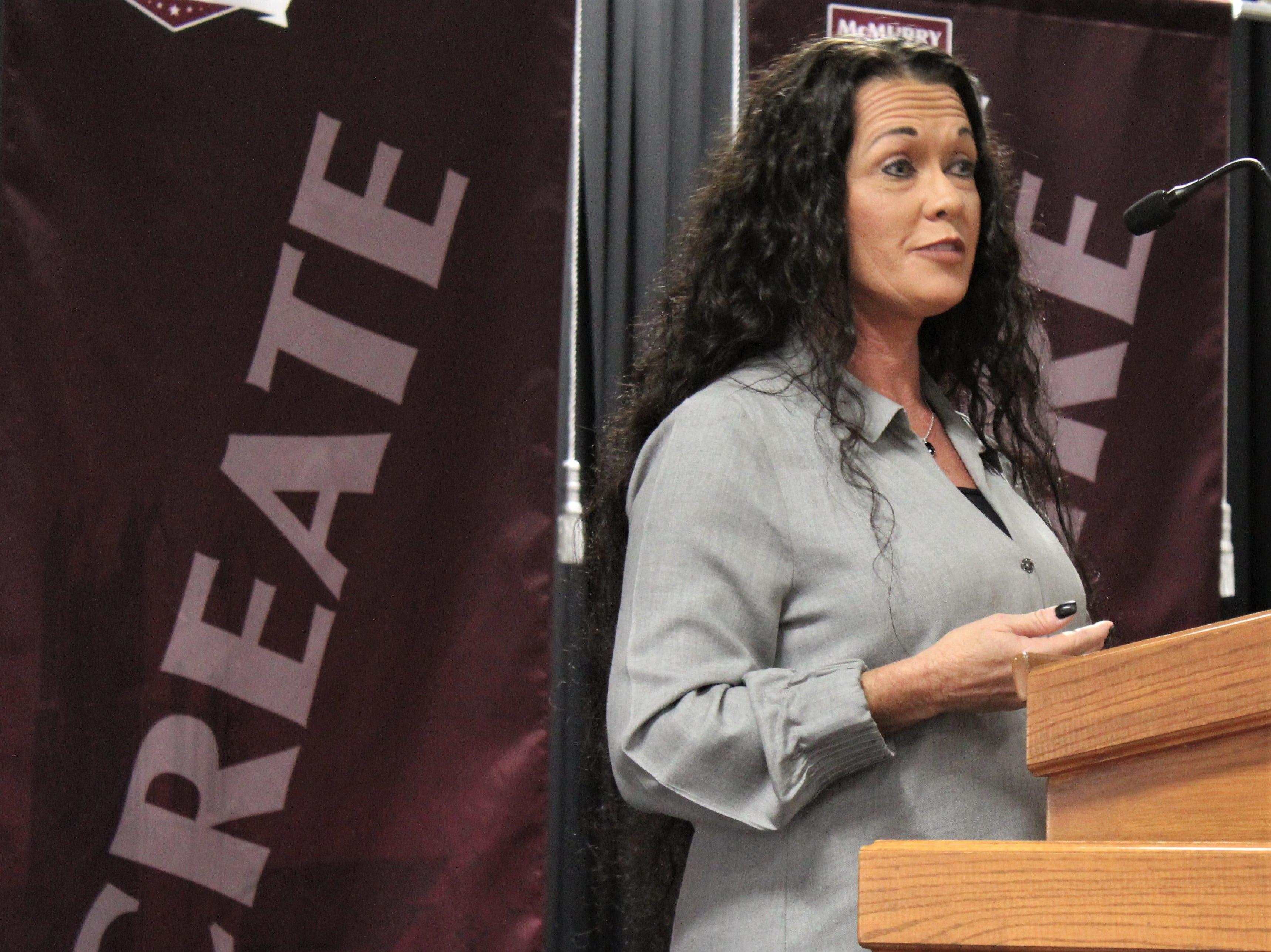 Missy Denard, a Women's Entrepreneurship Luncheon speaker Oct. 18 at McMurry University.