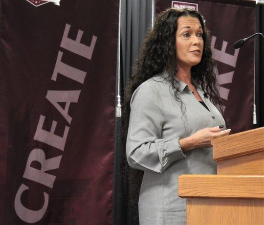 Missy Denard, a Women's Entrepreneurship Luncheon speaker Thursday at McMurry University.