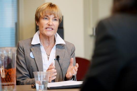 Buncombe County District 3 Democrat candidate Donna Ensley speaks during a debate Oct.16, 2017 at Blue Ridge Public Radio.