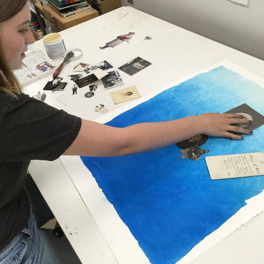A teen works on her self-portrait at Roots + Wings. Take a look at yourself: How would you draw you?