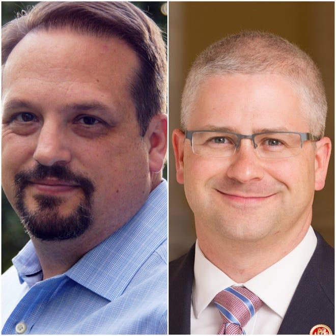David Wilson Brown, left, and U.S. Rep. Patrick McHenry