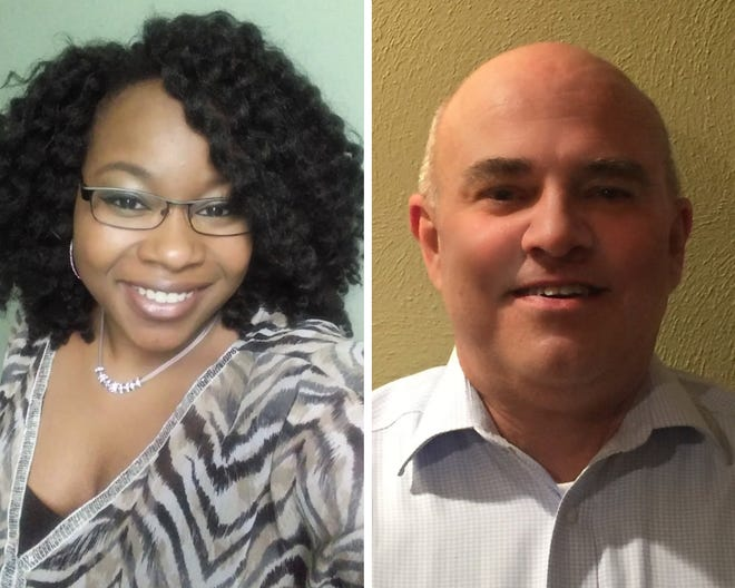 Marshall School Board candidates include Quiana Davis, left, and Bradley Donahue.