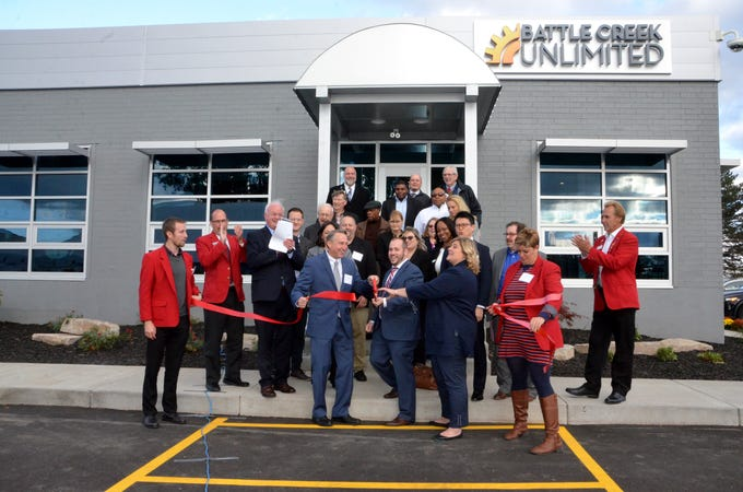 The ribbon-cutting ceremony for Battle Creek Unlimited's new office space was held on Wednesday, Oct. 17, 2018.