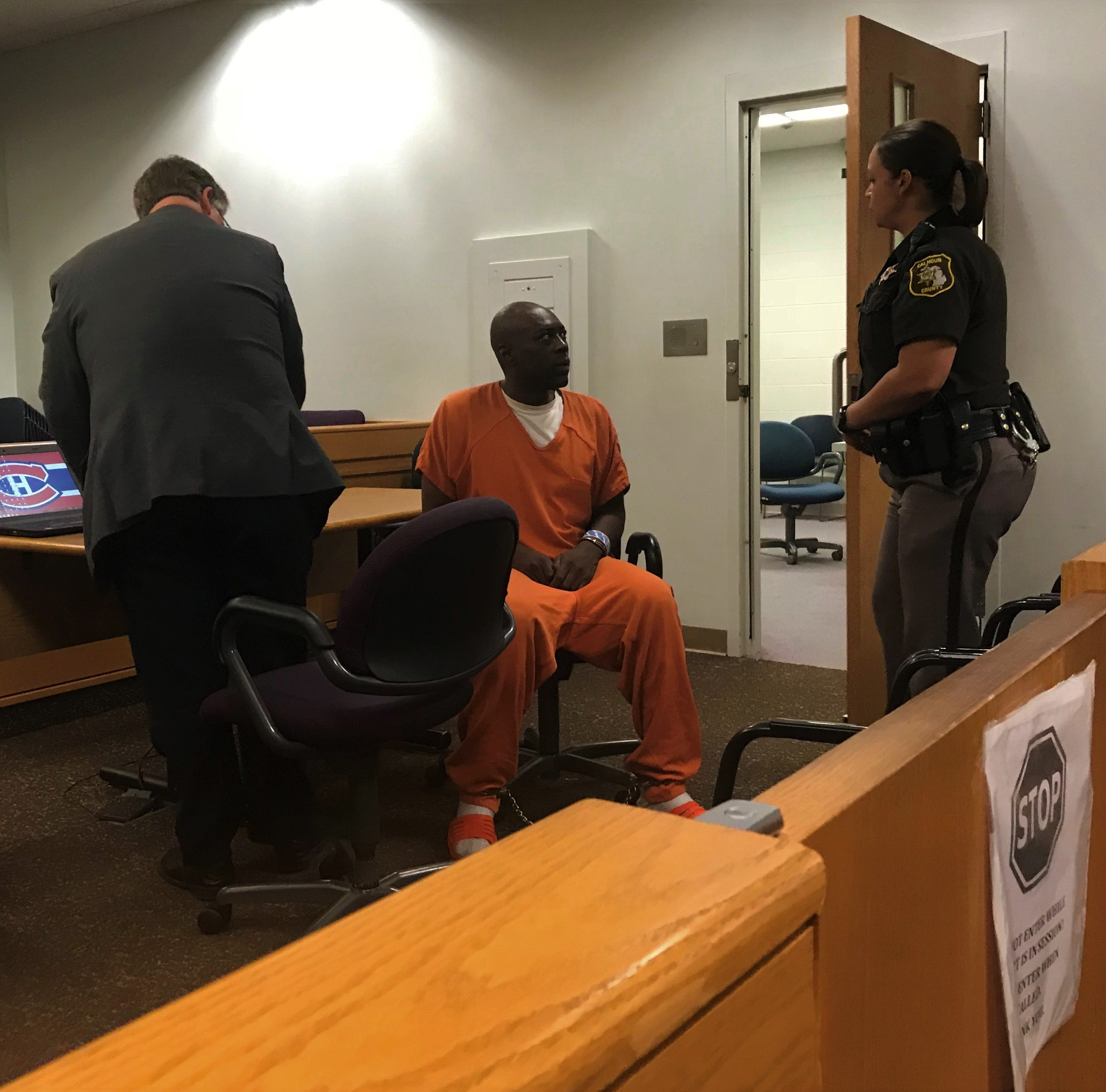 Otha Carroll, 47, of Battle Creek had a preliminary hearing in Calhoun County District Court Thursday on charges of felony murder, assault with intent to murder, arson and two counts of resisting police.
