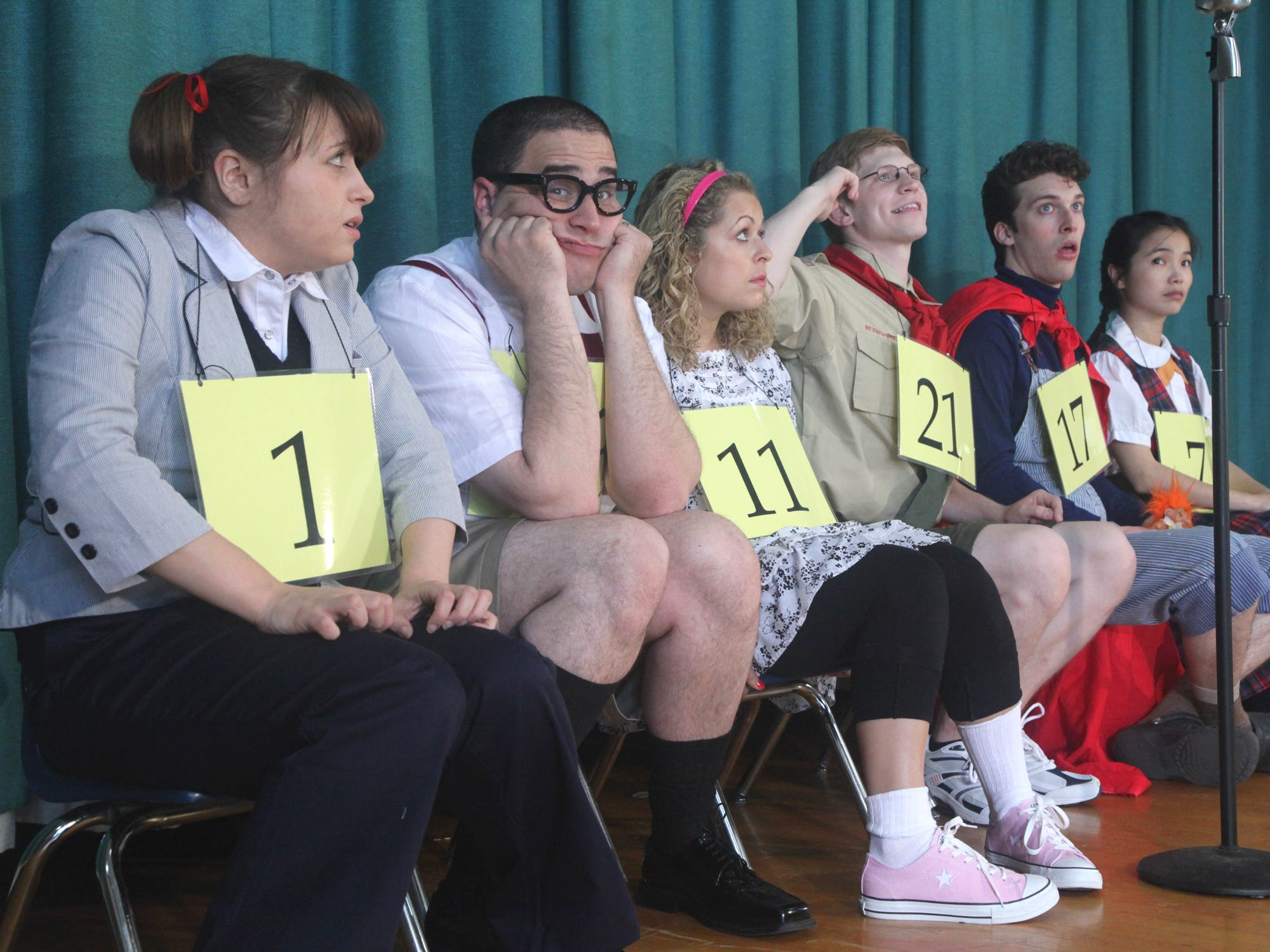 """The 25th Annual Putnam County Spelling Bee"" at Cider Mill Playhouse in 2011."